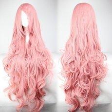 Pink Hair Fashion Anime Wigs Air Volume High Temperature Soft Hair Silk Bulk Hair Long Curly Big Wave Hair Wig Cosplay