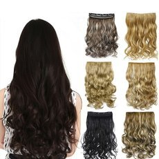 130g 20inch 50cm Synthetic Clip In Hair Extensions Curly Wavy Heat Resistant Hairpiece Natural Hair Extension