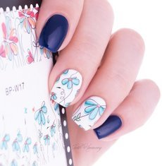 2 Patterns/Sheet Cute Flower Nail Art Water Decals Transfer Sticker BORN PRETTY BP-W17 #20608