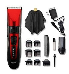 Waterproof LED Show Rechargeable Electric Hair Clipper Hair Trimmers Professional Cutting Haircut Styling Tools